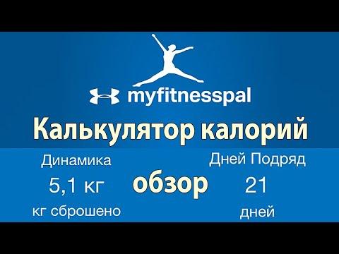 4 - Калькулятор и счетчик калорий для похудения MyFitnessPal [ВИДЕООБЗОР]