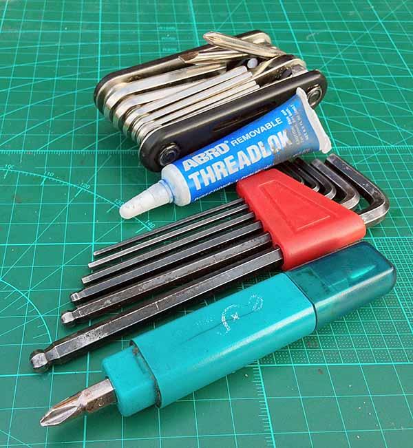 Инструменты для сборки. Шестигранники не понадобились