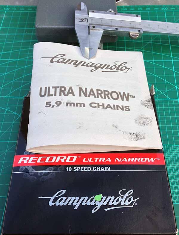 Талмуд с инструкцией по использованию велосипедной цепи CAMPAGNOLO RECORD