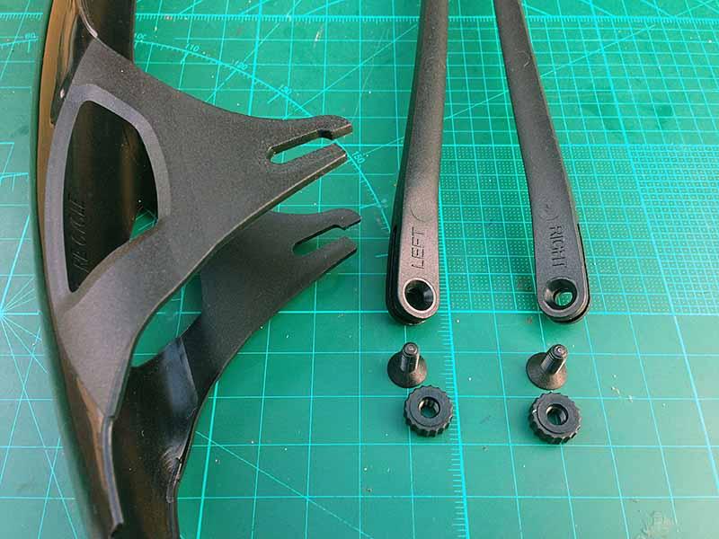 Усы крыльев Crud Roadracer mk2 отличаются - есть маркировка левый и правый