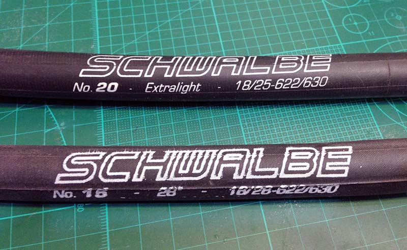 Велокамеры Schwalbe Extralight и обычная