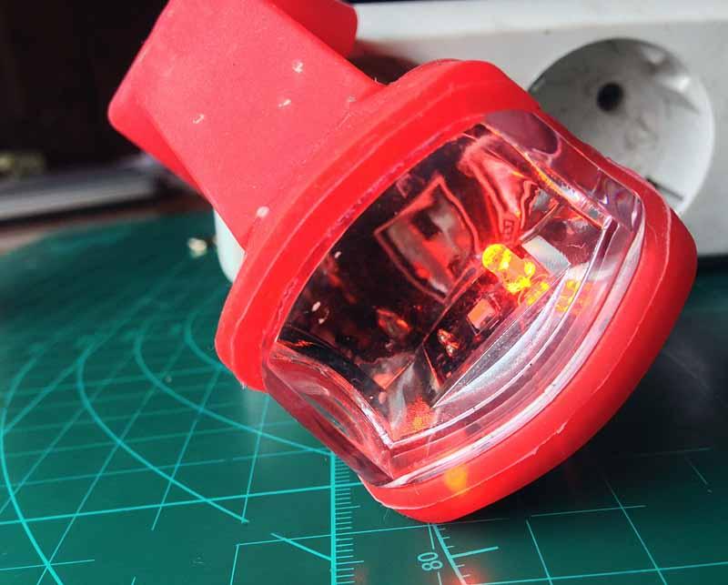 Аккумуляторная зарядка велофонаря RockBros USB Headlight