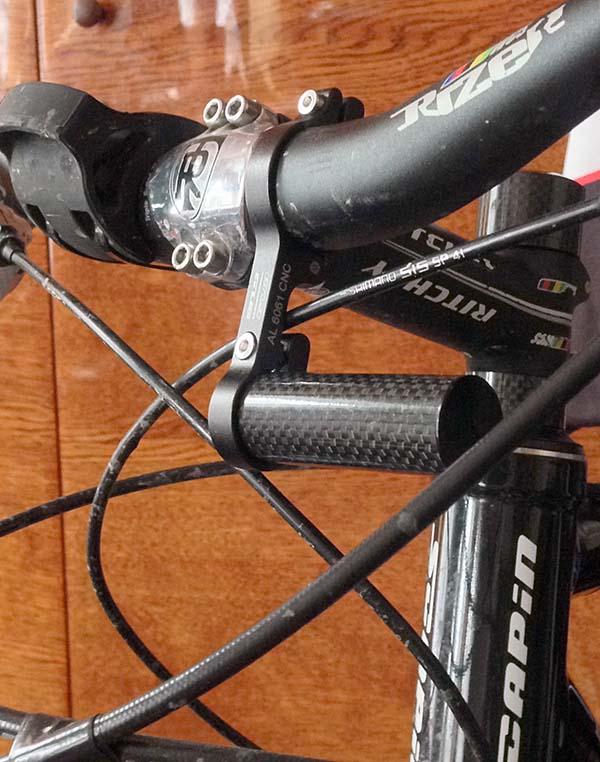 Дополнительный кронштейн - держатель для телефона-смартфона-фонарика на руль велосипеда