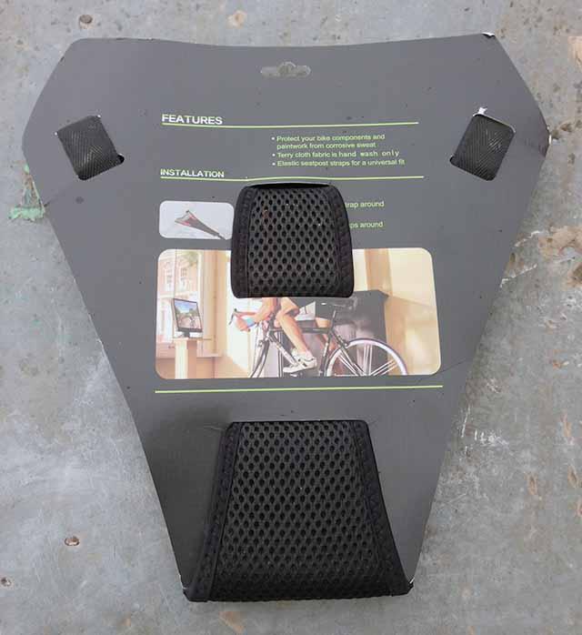 Потоуловитель для велотренажера - турбо-трейнера RockBros с обратной стороны