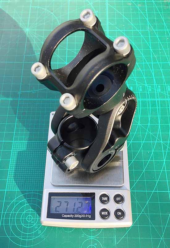 Размеры регулируемого выноса руля велосипеда - длина 100 мм вес 271 грамм