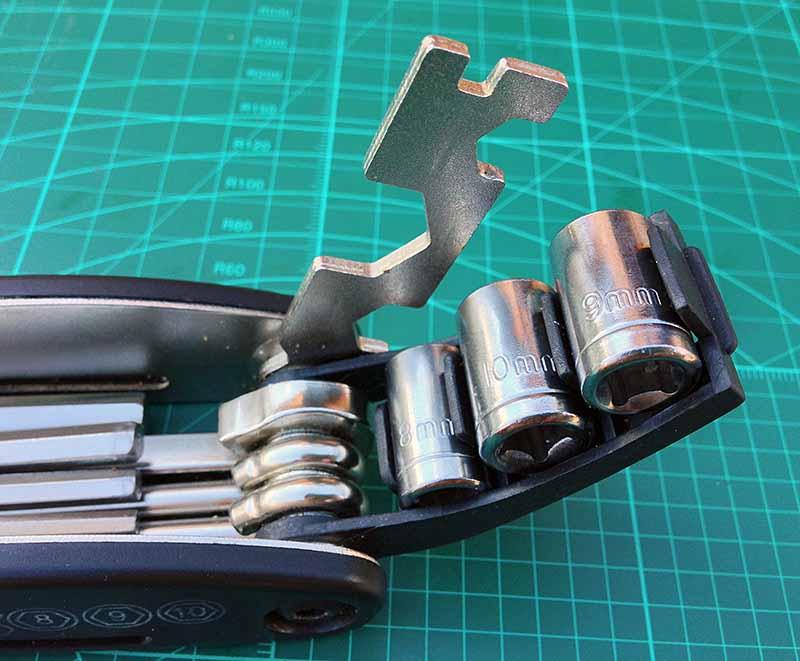 Велосипедный мультитул RockBros - головки и ключ на 15