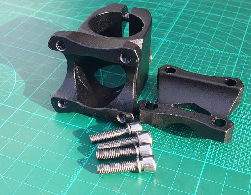 Вынос руля BMX можно купить на eBay - он сделан из фрезерованного куска алюминия и покрашен порошковой краской