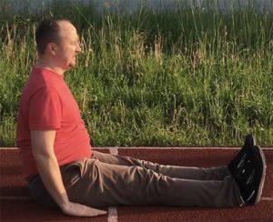 4-Зарядка и упражнения для похудения - L исходное положение сидя, упор в землю руками