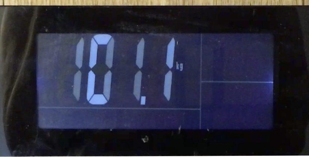 Замер веса после первой недели похудения 101 килограмм